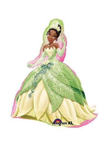 QUALITEX Princess and The Frog Tiana Party Balloon Mylar Decoration 14in 6PC -
