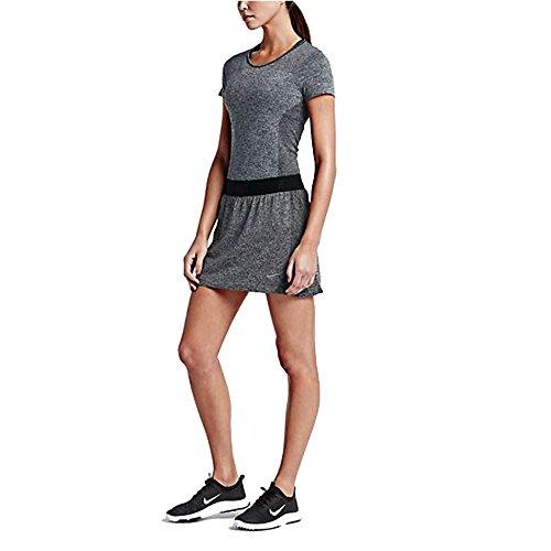 Nike Women's Converge Seamless Golf Skort Skirt Training 725780 (m, Black/Black/Pure/Reflective Silver, Ink Blue ()