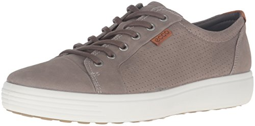 - ECCO Men's Soft 7 Tie Fashion Sneaker, Moon Rock Perforated, 42 EU / 8-8.5 US