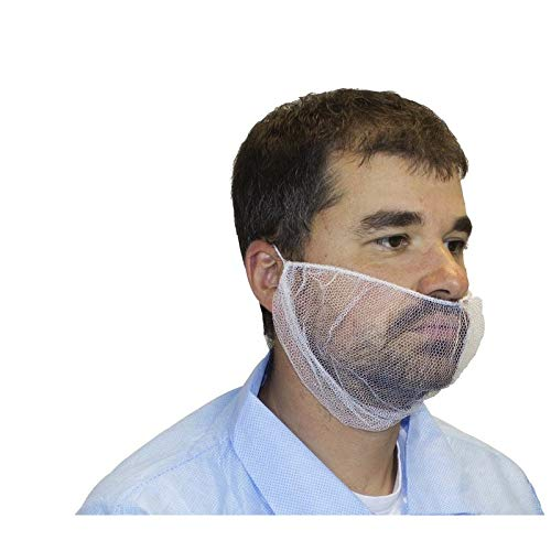Polyester Mesh Beard Net, White (1000 Per Case) by The Safety Zone