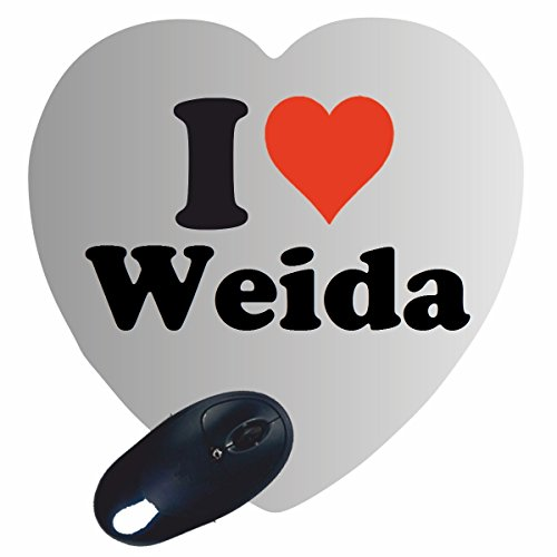 Exclusive Gift Idea  Heart Mouse Pad  I Love Weida  A Great Gift That Comes From The Heart   Non Slip Mousepad  Christmas Gift