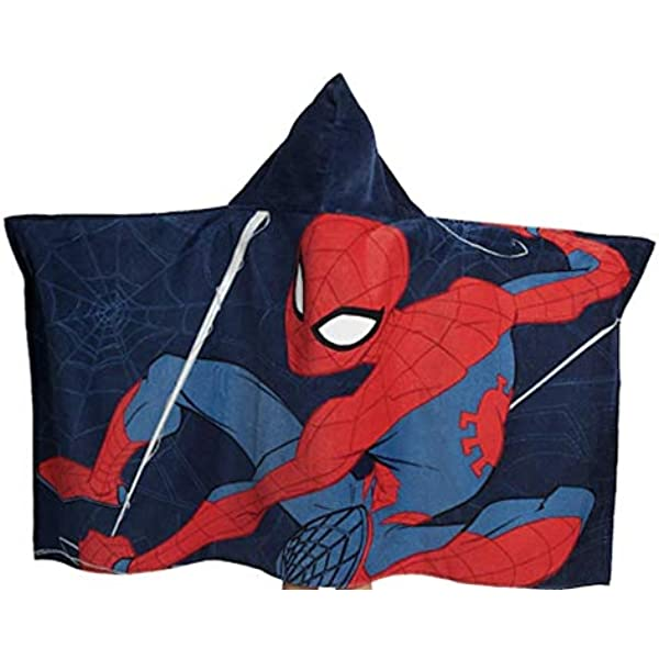 New Licensed Marvel Spiderman Hooded Towel One Size Beach Pool Boys Girls