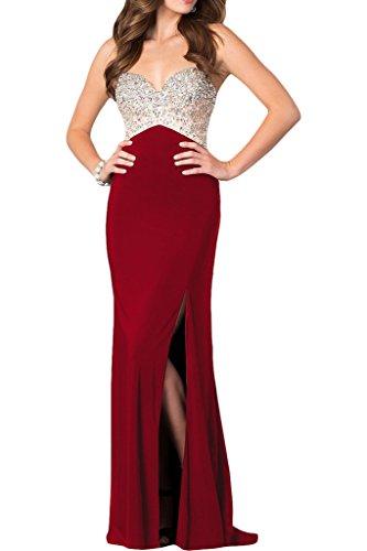 alta rosso donna da Strass con di abito abito da 44 qualità sera intaglio party Prom ivyd ressing Spaghetti vivo 5Iqwax1q