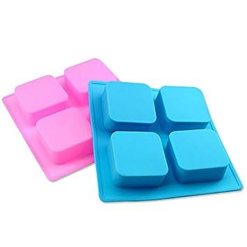 rupum (TM) 4 Grid Kuchen Silikon Formen DIY quadratisch Cupcake ...