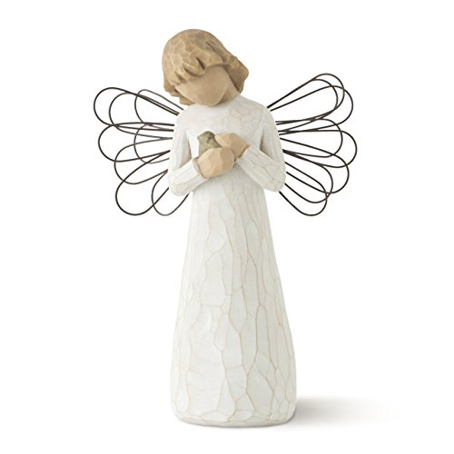 Willow Tree Angel of Healing, sculpted hand-painted figure (Willow Tree Angel Stand)