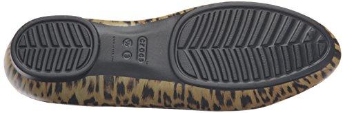 leopard Para Flat Graphic Multicolore Bailarinas Crocs Mujer Lina w086q6