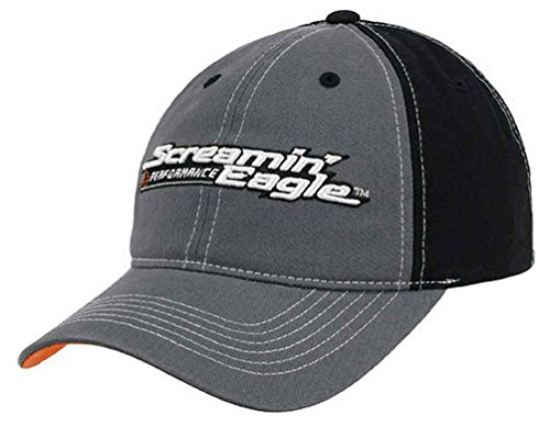 Harley-Davidson Men's Screamin' Eagle Hang Out Baseball Cap - HARLMH030800 (Eagle Screamin Harley)