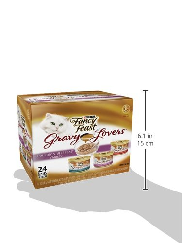 Purina Fancy Feast Poultry & Beef Feast Collection Cat Food - (24) 3 oz. Cans