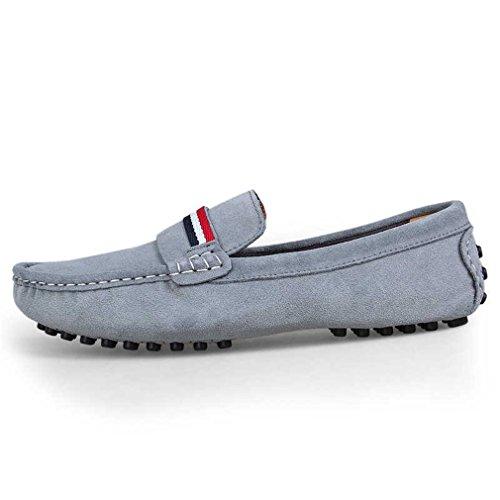 guida scarpe uomo Mocassino in pelle Primavera appartamenti ufficio maschili Fluores da uomo Scarpe Mocassini pelle in Gray Casual scamosciata 8wFnPqvxf