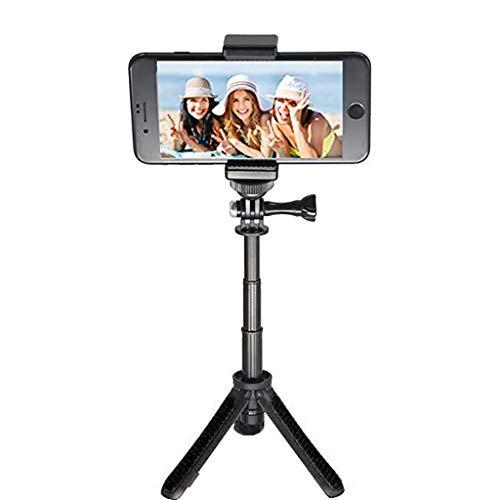OUBAO for DJI OSMO Action Camera Handheld Tripod Selfie Stick Extendable Monopod,for Gopro Hero,Sjcam,EKEN,Xiaomi ,Lite Mijia Mini,Sony Action Camera,Tripod Selfie Stick,Screw, 1/4''Adapter (Black)