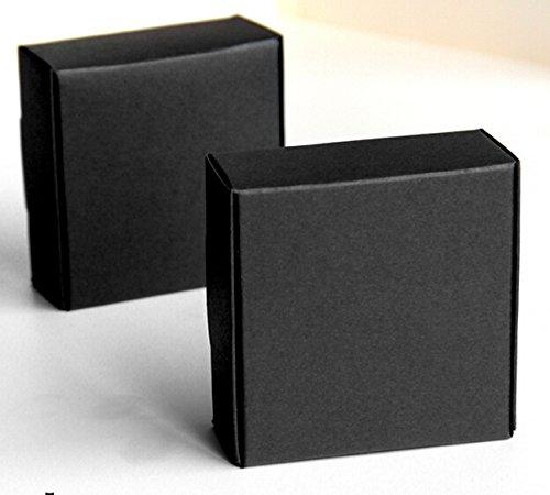 XLPD 20Pcs Black Kraft Soap Packaging Box White Brown Kraft Soap Box, Black Gift Cookies Boxes,Wedding Candy Kraft Box Black -