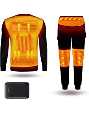 Electric Heating Underwear Warm Winter Body Warmer Clothes USB Electric Heated T-Shirts Pants Battery Powered Ski Wear for Camping