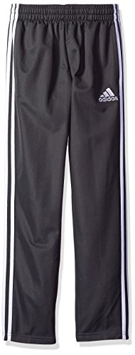 (adidas Boys' Big Tricot Pant, Dark Gray, L)