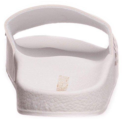 The White Brand - Zuecos para mujer blanco blanco
