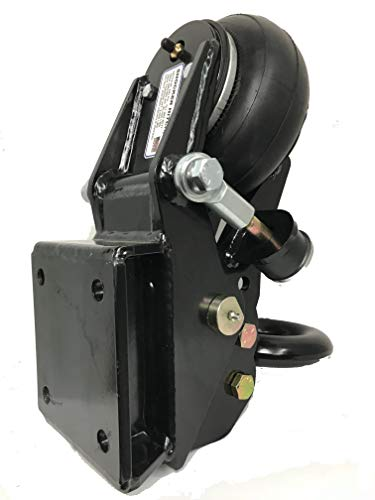 Shocker Air Trailer Tongue Mount Hitch with Pintle Ring - Square Plate Mount to Trailer