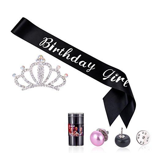 Birthday Girl Sash With Crystal Crown