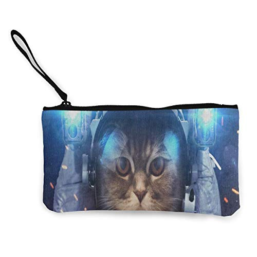 Canvas Coin Purse Funny Cat...