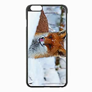 iPhone 6 Plus Black Hardshell Case 5.5inch - snout snow view Desin Images Protector Back Cover