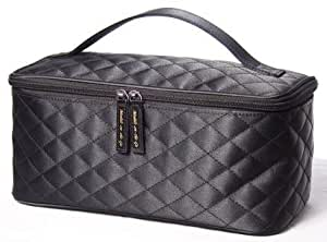 Black Satin Cosmetic Bag by Models-on-the-Go Large Size