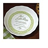 Abbey Press Easter Recipe Pie Plate - Religious Faith Inspirational Hostess Gift - 49977