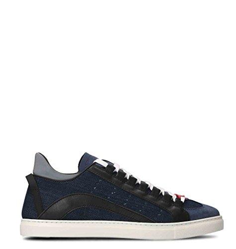 Chaussures De Sport En Coton Bleu Hommes Dsquared2
