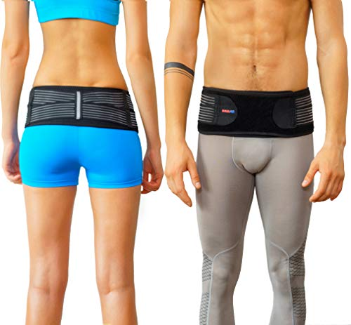 ce SI Belt to Relieve Leg/Sciatica Nerve Pain, Lower Back Pain and Lower Spine and Hips Pain | Breathable, Comfortable, Anti-Slip Back Braces to Reduce Joint Inflammation ()