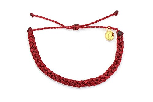 Pura Vida Bracelets Candy Apple Red Braided Bracelet Handmade  Waterproof w/ Gold-Coated Copper Charm