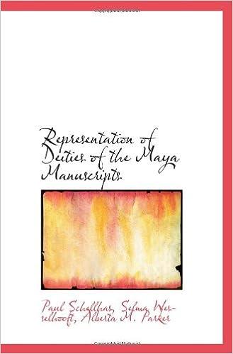 Book Representation of Deities of the Maya Manuscripts