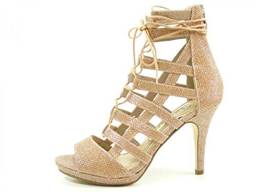 Tamaris 28380 - Sandalias de Gladiador Mujer Gold