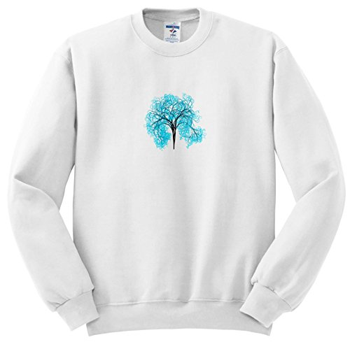 Price comparison product image 3dRose Pop Tree Designs - Image Of Turquoise Tree Stands Alone - Sweatshirts - Youth Sweatshirt XS(2-4) (SS_279887_9)