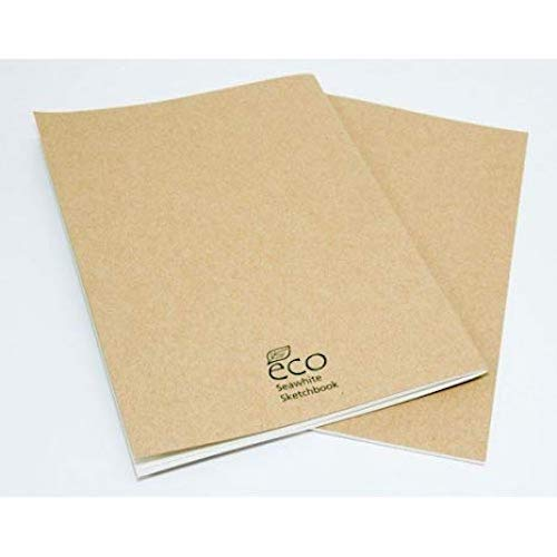150gsm Acid Free White Cartridge Paper 46 Sheets A4 Portrait - 92 Pages Artgecko Classy Sketchbook Casebound
