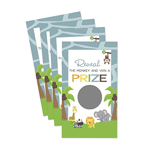 Jungle Baby Shower Scratch Off Game Pack of 28 Cards]()
