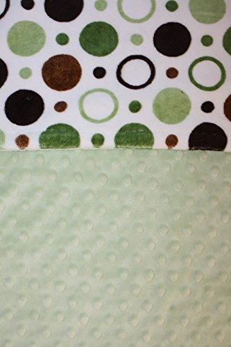 Chenille Polka Dot Blankets (Minky Blanket - Baby Blanket, Toddler Blanket, Child Blanket - Circles and Polka Dot Print Minky (Small (@19