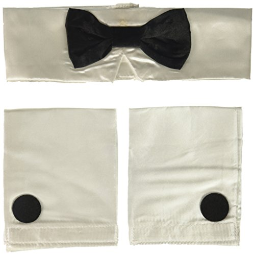 Rubie's Costume Co. Men's Deluxe Collar, Tie, and Cuffs Costume Accessory, As Shown, One Size - Playboy Costumes