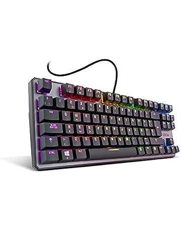 KROM Kernel Tkl - NXKROMKRNLTKL - Teclado Mecánico Español Gaming RGB, Color Negro.