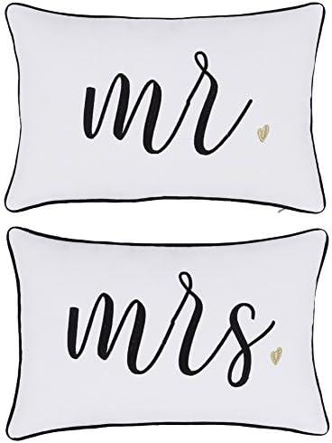 DecorHouzz Pillowcase Embroidered Wedding Anniversary product image