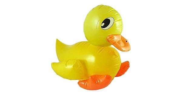 4 x Nueva Grande 42 cm Hinchable Amarillo Pato HB: Amazon.es ...