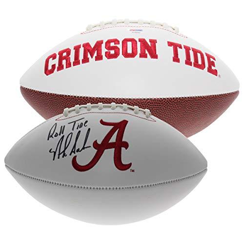 Nick Saban Autographed Signed Alabama Crimson Tide White Panel Football - Roll Tide - PSA/DNA Authentic ()