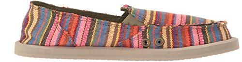 Sanuk Womens Donna Kauai Blanket Loafer Flat Cabaret Kauai Blanket