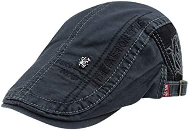 野球帽 キャスケット メンズ 鳥打帽 ゴルフ コットン 日よけ 調整可能 カジュアル ハンチング 55-61cm LWQJP (Color : グレー, Size : M)