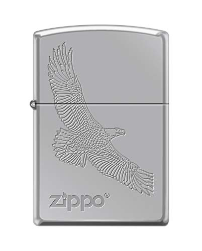 Zippo Lighter: Engraved Soaring Eagle - High Polish Chrome 79491 ()
