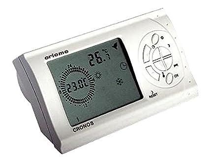 Cronotermostato WiFi Digital ORIEME Cronos Termostato inalámbrico de mesa sin hilos Temperatura Ambiente ajustable, fácil