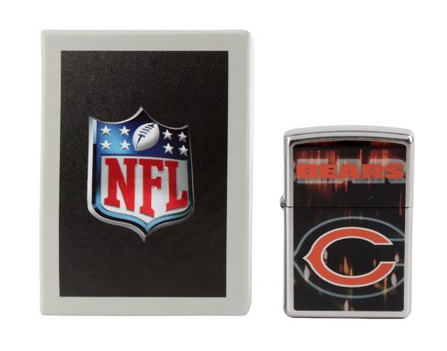 Zippo NFL Chicago Bears Street Chrome Pocket Lighter Nfl Chicago Bears Zippo Lighter