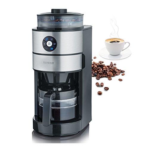 SEVERIN KA 4811 Cafetera automática con Molinillo para Café Molido o en grano temporizador desconexión automática 6…