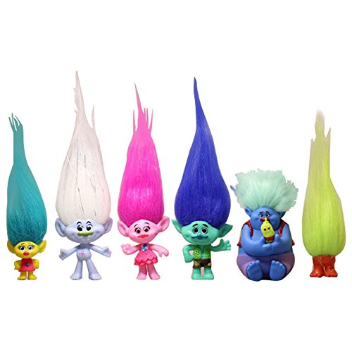 Cupid Halloween Makeup (ganggamtop 6pcs Dreamworks Movie Trolls Poppy Branch Biggie Action Figure Doll Kids Toy Set)