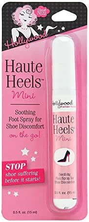 Hollywood Fashion Secrets Haute Heels foot care, works for all types of shoes, Value Pack 4 oz & 0.5 oz