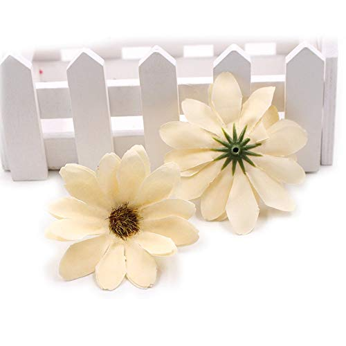 Scrapbooking Daisy Flower Heads Artificial Flowers Wreath Party Decoration