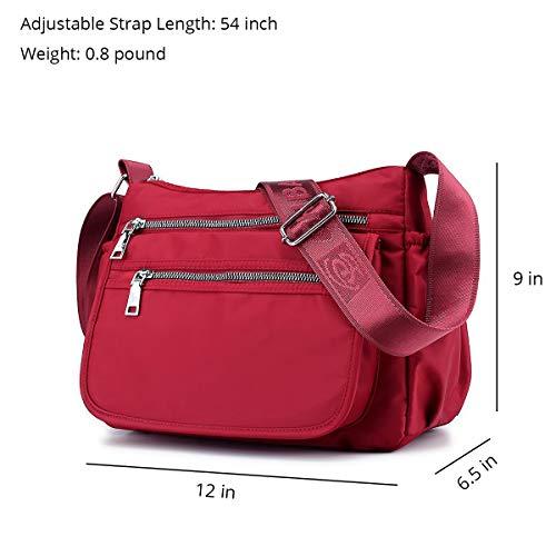 b67da92bb65d ZOCAI Nylon Travel Crossbody Purse Small Shoulder Bag Casual Women ...