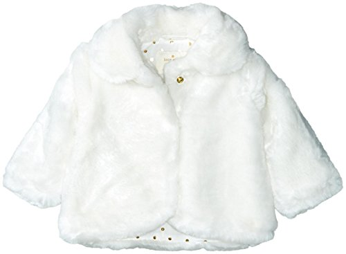 kate spade new york Baby Girls Babies' Faux Fur Jacket, Cream, 18M