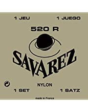 Savarez  520R Corde per Chitarra Classica Concert 520R, Cantini Rettificati, Bassi Tradizionali, Set Tensione Standard, Rosso
